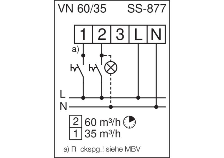 Helios Ventilatoreinsatz ULTRA-SILENCE ELS-VN60//35 8139 60//35m³//h Nachlauf